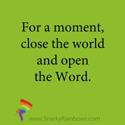 quote - close the world