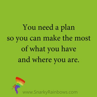 quote - you need a plan