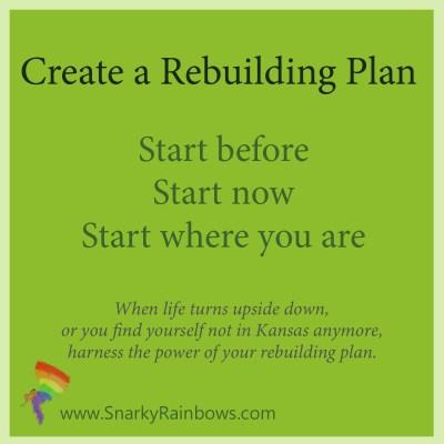 Rebuilding plan