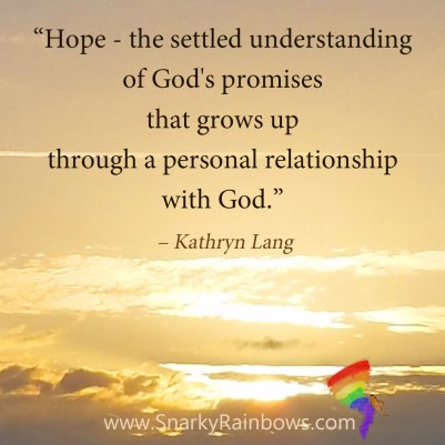 Hope defined by relationship with God