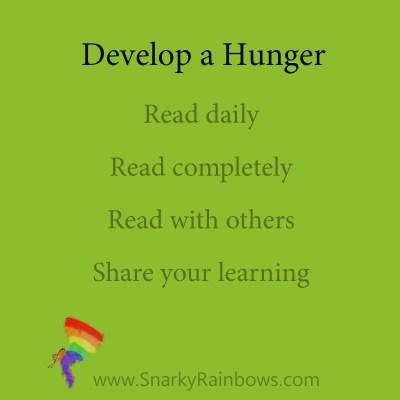 develop a hunger