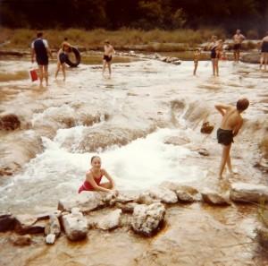 Enjoying the rapids at Mo-Ranch