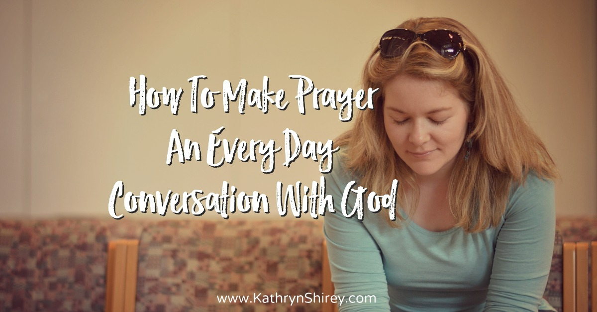 Why does prayer sometimes feel intimidating? Learn how to apply characteristics of common conversation to your prayer life and treat prayer as a friendship with God.