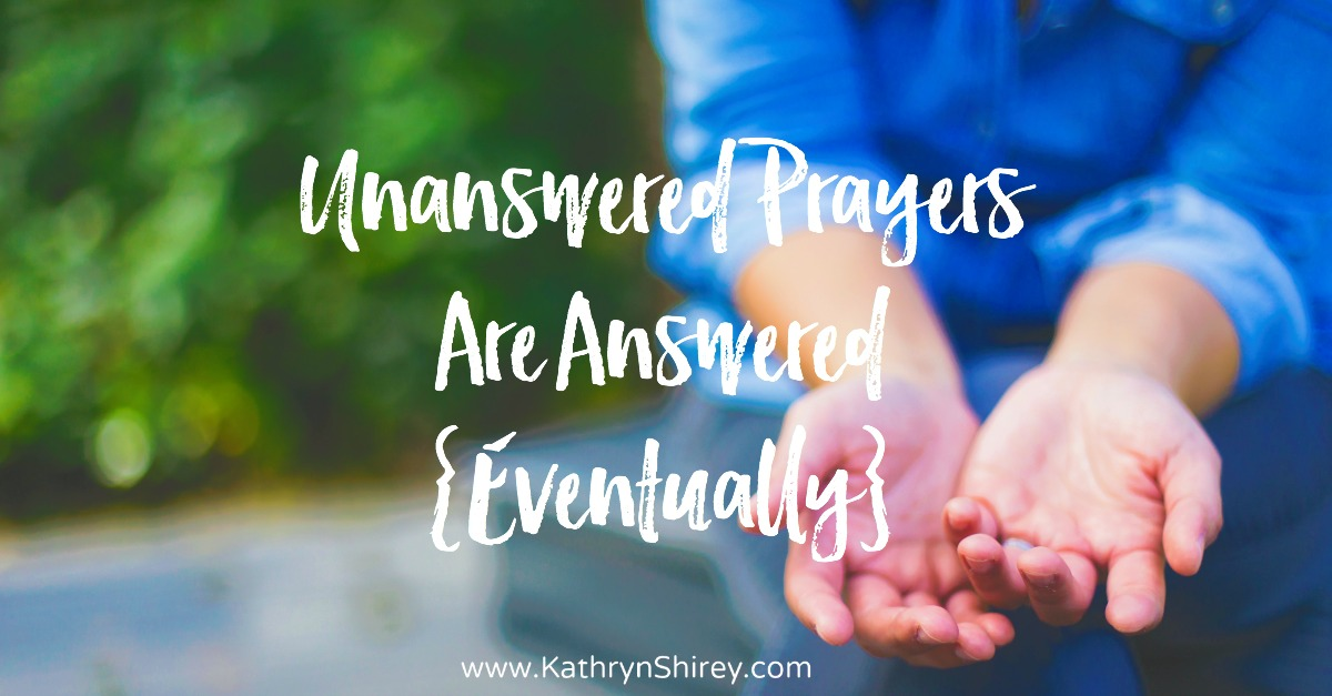 Are you struggling with unanswered prayers? What if unanswered prayers are simply prayers whose answers we can't yet see?