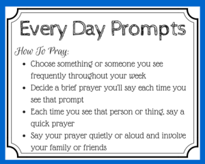 Every Day Prayer Prompts