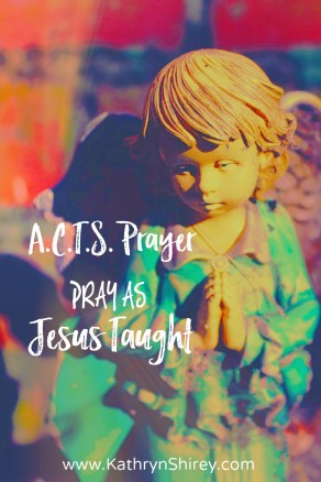 Do you struggle with what to pray? Need help decoding the Lord's Prayer? The A.C.T.S. prayer model is the acronym you need. Pray as Jesus taught using A.C.T.S. {+free printable prayer card}