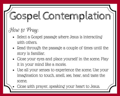 Enter the gospel story in prayer by engaging your imagination to experience Jesus' story with all your senses. Learn how to use the Ignatian method of Gospel Contemplation to breathe new life into your prayers and your experience of scripture. (+ free printable prayer cards)