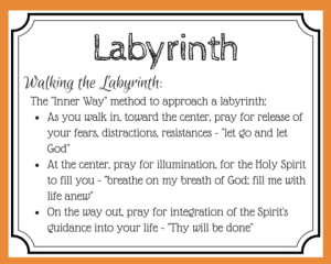 Labyrinth Prayer card