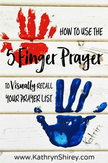 Have trouble keeping up with your prayer list? Use this 5 Finger Prayer to visually recall key groups of people to include in your prayers. Great for kids! (+ free printable prayer cards)