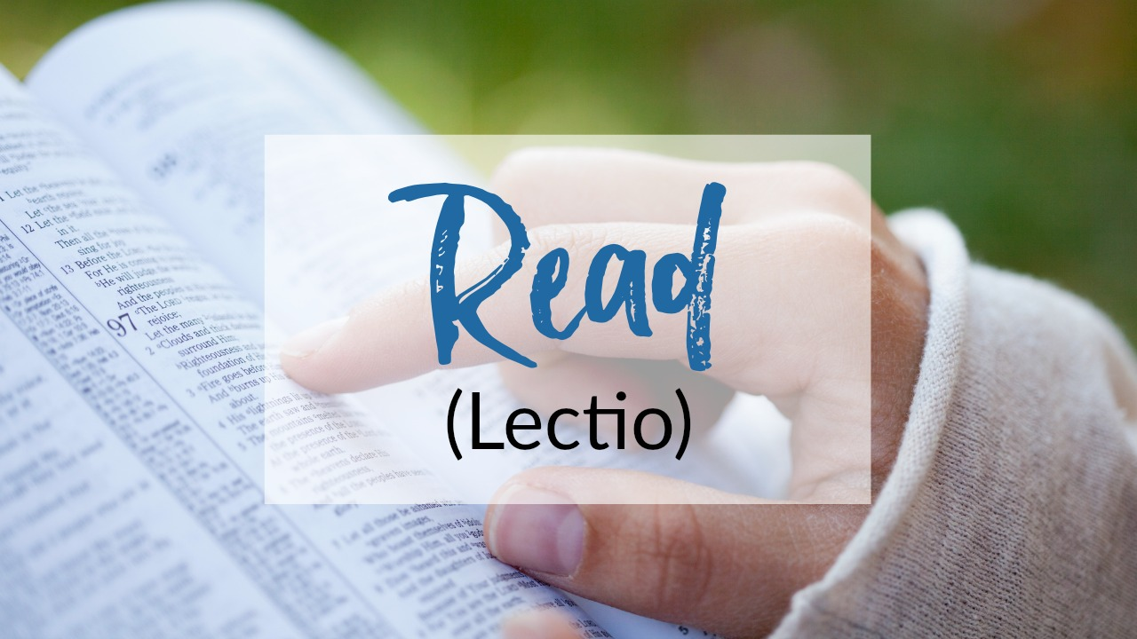 "First step in praying Lectio Divina: Read (Lectio). Learn how to pray the basic Lectio Divina steps to hear God more clearly in your prayers. Pray scripture with the ""ear of your heart."" (+ free printable prayer cards) #Prayer #HowToPray"