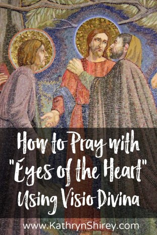 "Learn to pray with ""the eyes of the heart"" and enrich your prayer life through a multi-sensory connection with God, using Visio Divina (""divine seeing"") (+ free printable prayer cards)"