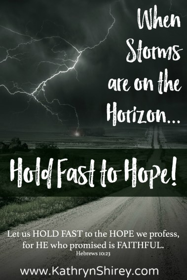When storms threaten on the horizon of your life, how do you face your fears? Hold fast to hope and believe in God's love that overcomes any storm.