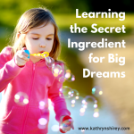Learning the Secret Ingredient for Big Dreams