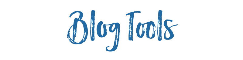 Blog Tools title