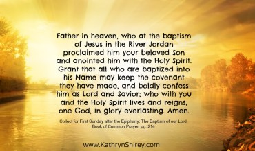Prayer for the 1st Sunday After Epiphany: The Baptism of our Lord