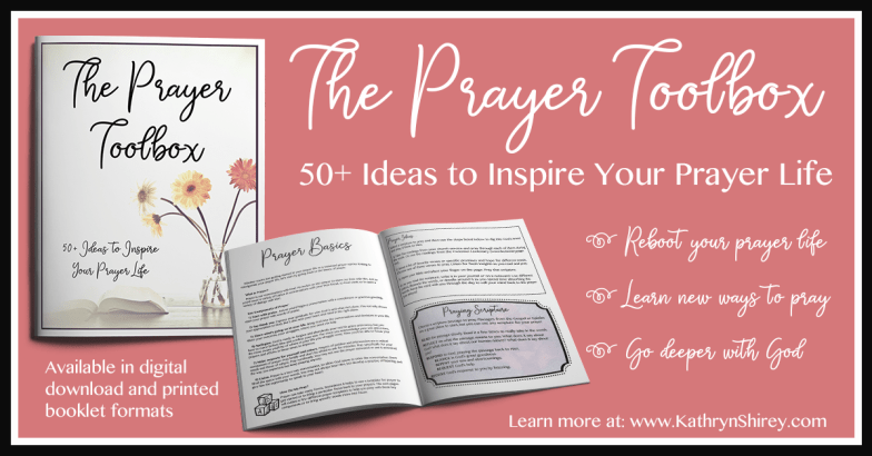 Want to pray better? Reboot your prayer life and go deeper with God? Try the Prayer Toolbox, your reference guide for a variety of prayer methods, with over 50 ideas to inspire and deepen your prayer life.