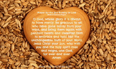 Prayer for the 2nd Sunday in Lent