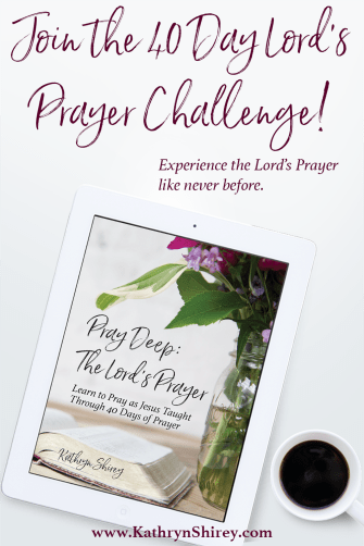Want to experience the power of the Lord's Prayer? To pray it with meaning and impact? Take the 40 day challenge, praying the Lord's Prayer line by line, bit by bit, until it transforms your prayers. Download a FREE 40 day prayer calendar and printable Lord's Prayer.