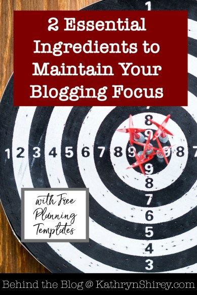 Do you struggle to maintain your focus as a blogger? Too many distractions? Overwhelmed by the myriad of opportunities and new things to learn? These 2 essential ingredients will help you find and maintain your focus, so you can be more productive and achieve the goals you want for your business.