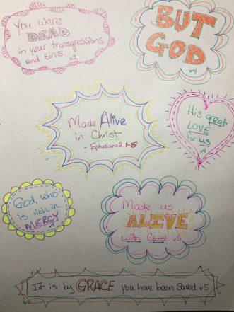 prayer doodle