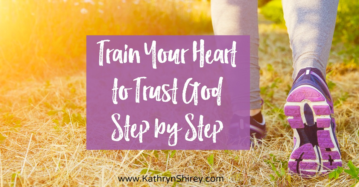 Faith is forged in the journey of steps. To be ready to trust God through the big trials, we need to train our hearts to trust God by taking small steps.