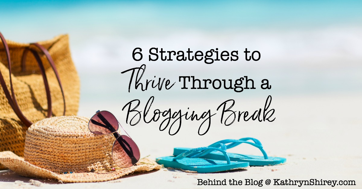 How can you take a vacation from your blog? Can you keep (and even add) readers during a break? Use these 6 strategies to thrive through a blogging break.