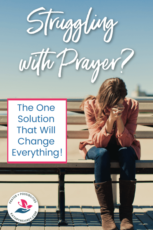 Do you struggle with prayer? Wonder why praying is so hard? This is the one solution you need to improve your prayer life.