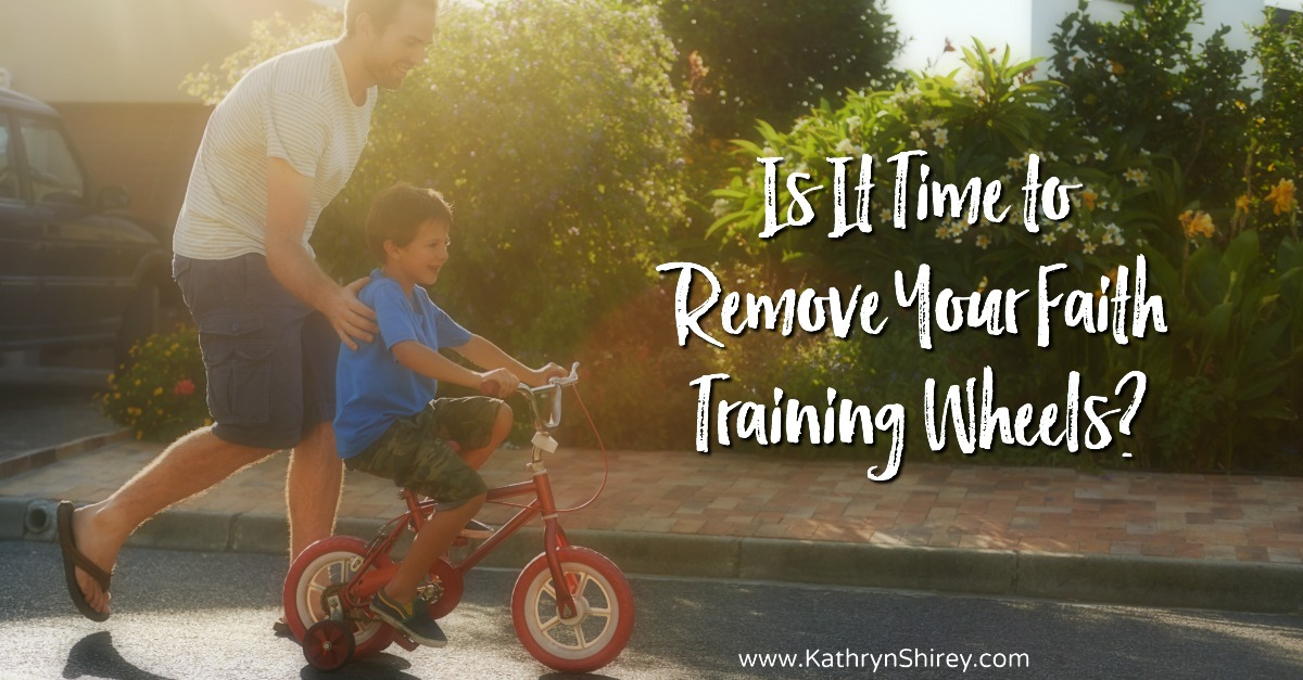 The Christian life is learned, much like riding a bike. Sometimes, we need to remove our faith training wheels and practice what we've learned. Is it time to remove yours and put what you've learned from God into practice?