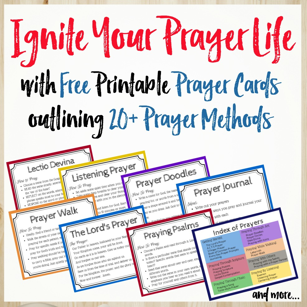 picture relating to Free Printable Prayer Cards known as Discovering How in direction of Pray - 23 Prayer Strategies and Options toward