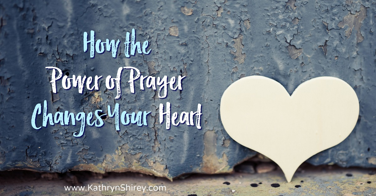 The power of prayer can change your heart. Be encouraged in your own prayers. Keep praying, even if you're not sure they're working. Learn to pray through God's Word, using scripture in your prayers. Know that prayer doesn't need a lot of words or even fancy, eloquent words. Simple prayers can be powerful.