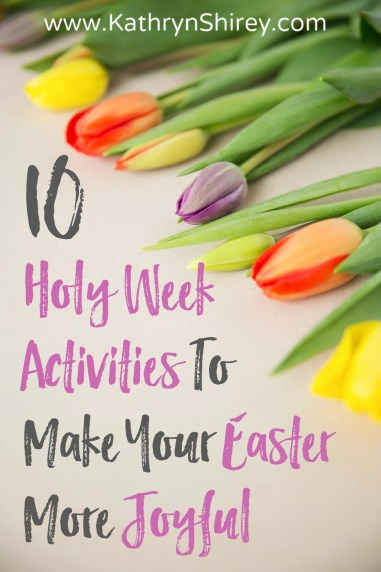 Are you stepping into the depth of Holy Week, or skipping straight from Palm Sunday to Easter? Try adding at least one of these Holy Week activity ideas this year. Experiencing the full emotion of the week will make your Easter more joyful and meaningful. Daily Devotional | Prayer Vigil | Maundy Thursday Foot Washing | Stations of the Cross | Good Friday | Fasting | Passover Seder | Holy Saturday