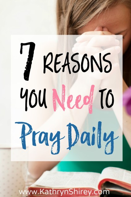 Is daily prayer a priority or is prayer often deferred to Sunday mornings or times of need? What is the importance of daily prayer in our lives? Daily prayer is powerful and effective to develop a relationship with God and fill your heart with God's peace. Find encouragement from these 7 reasons to pray daily.