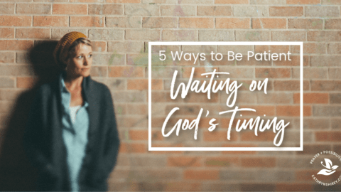 Are you in a season of waiting? It's hard to wait on God and trust God's plans. Lean into these 5 ways to have patience waiting on God's timing in your life