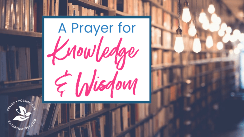 A daily prayer for knowledge and wisdom. Pray for God to fill you with wisdom and insight to make the right choices. Pray for God's knowledge and discernment to keep you on the straight and narrow path.