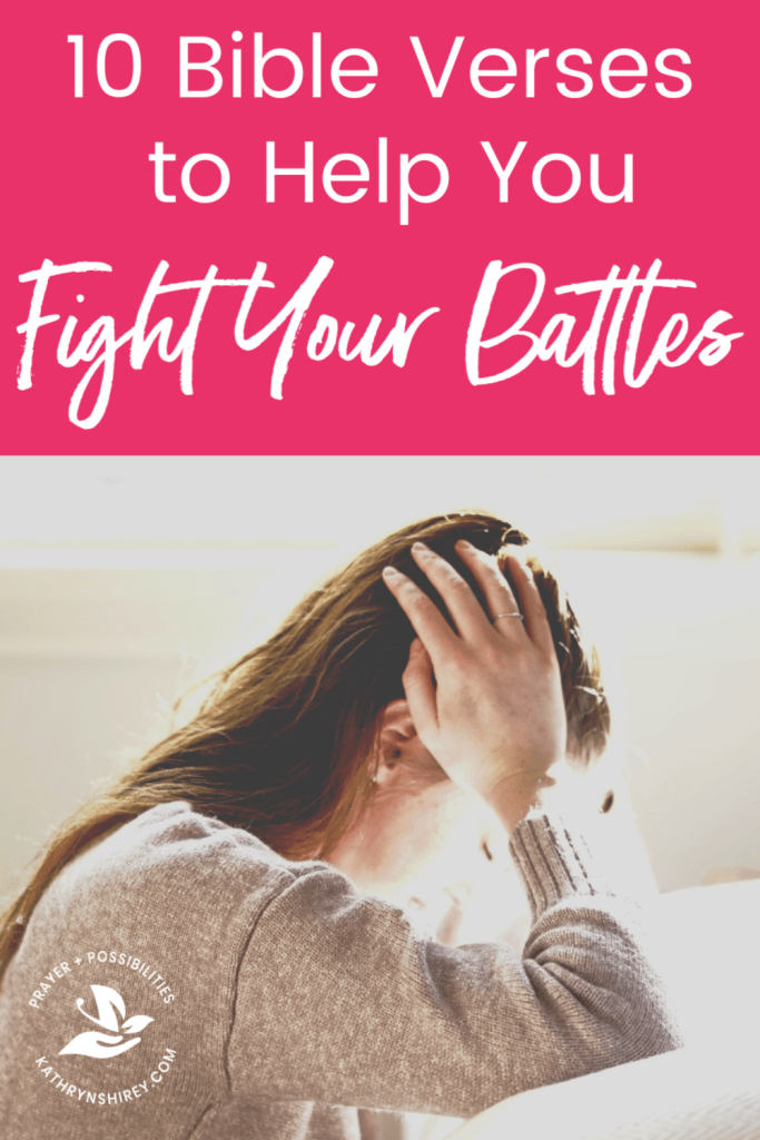 When you feel surrounded the battles of life, turn to these 10 Bible verses about fighting battles. Let God fight for you and be your strength and shelter.