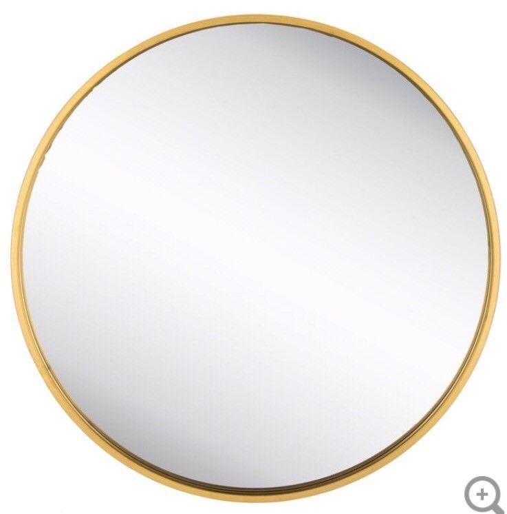 Buy Cheap XXL Round Gold Metal Wall Mirror Huge Piece ...