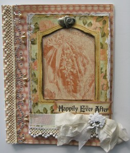 Wedding Card made with Le Romantique paper  collection