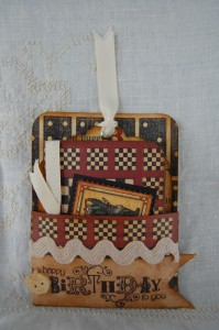 Mini Book tucked into its own little pocket.  Created with Playtimes Past and ABC Primer collections.