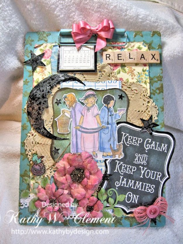 Kathy by Design Altered Clipboard/Crafty Secrets