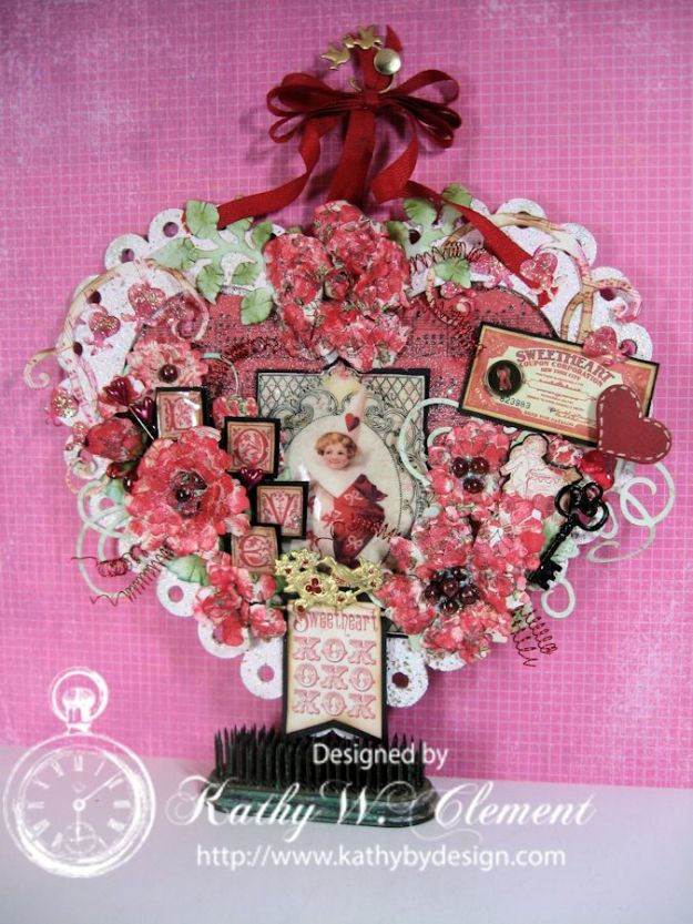 Kathy by Design altered Valentine Heart