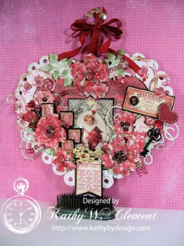 Kathy by Design altered Valentine Heart