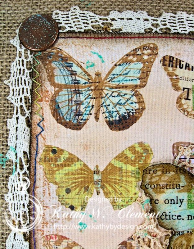 Crafty Secrets Butterfly Canvas 07