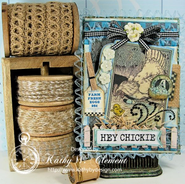 Crafty Secrets Farm Chicks Stamp/Kathy by Design