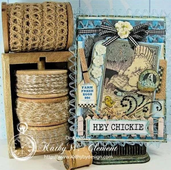 Crafty Secrets Farm Chicks Stamp/Kathy by Design