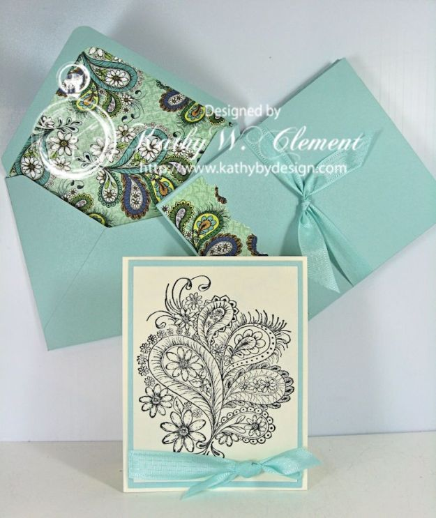 Peacock Paisley Note Cards 02