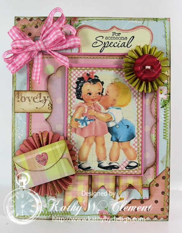 Birthday Kiss Retro Kids 01