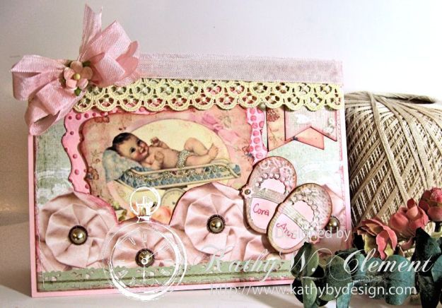 Sweet Baby Girl Card/Kathy by Design