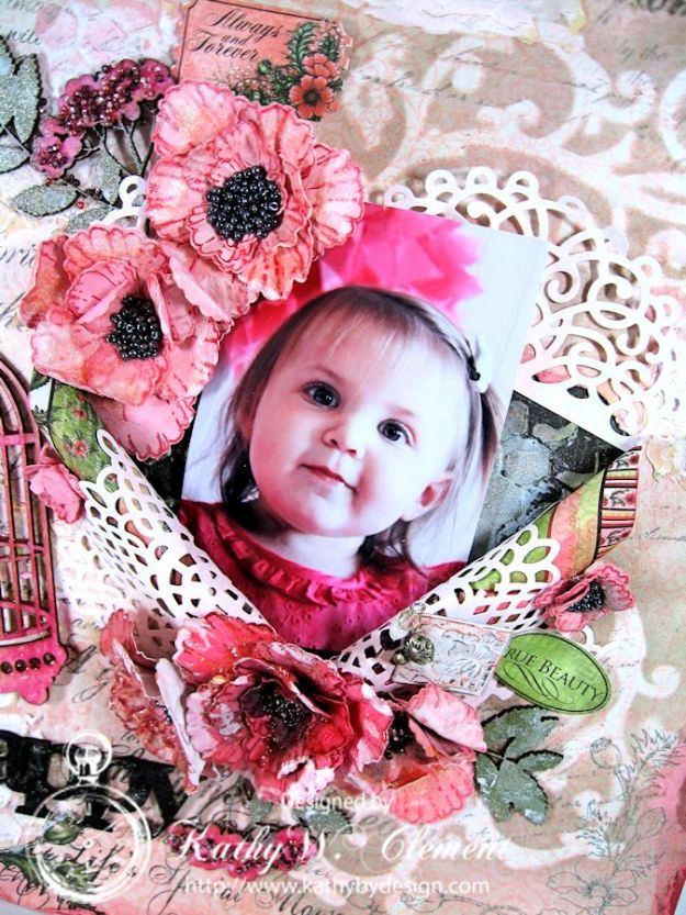 Blazing Poppies Mixed Media Layout 03a