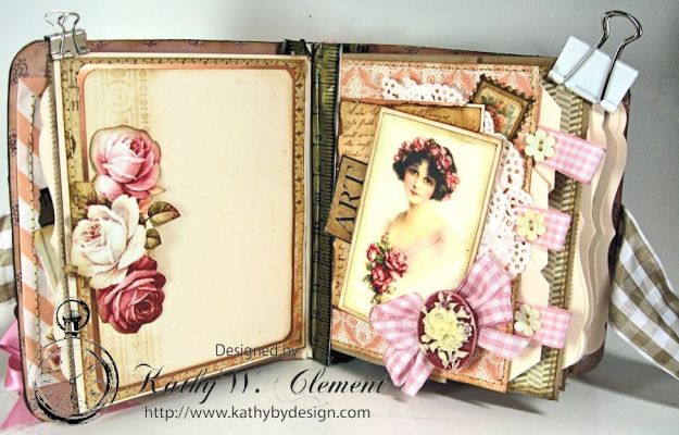 Everythings Coming Up Roses Mini Album Kathy Clement 08