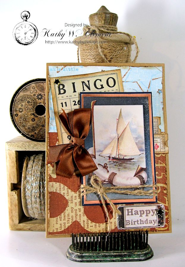 Sailboat Card 01 Masculine Creativity Kit